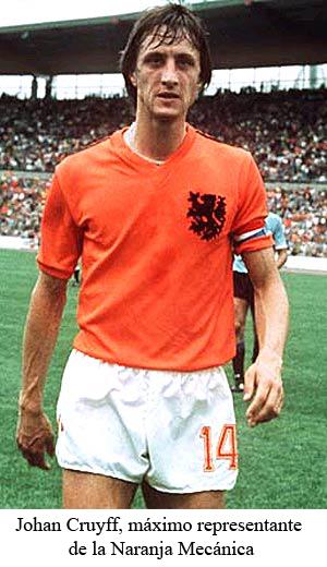 Johan Cruyff, máximo representante de la Naranja Mecánica